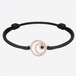 Bracelet AIR en MER Corde Black IPR