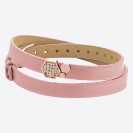 Bracelet ALVEOLE 8DT Rose IPR