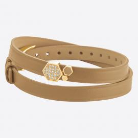 Bracelet ALVEOLE 8DT Sand IPY