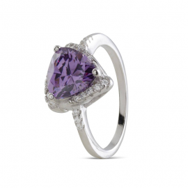 RING TEPNAR SILVER & PURPLE H2028535