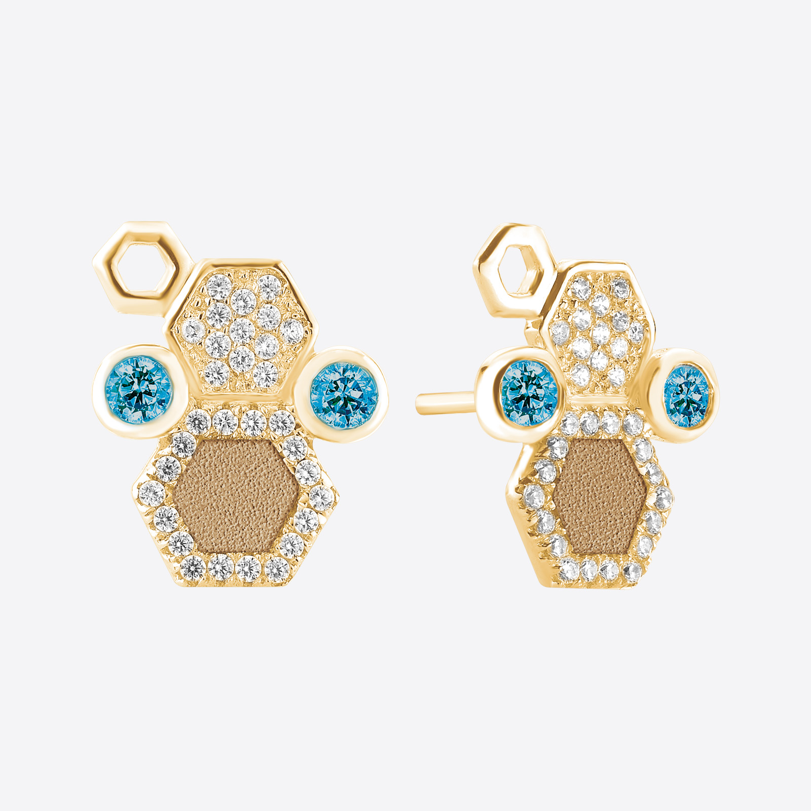 Earrings ALVEOLE Mix Sand YE SER02015 - Galerie Hindam