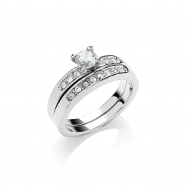 Annabelle Ring - Rhodium