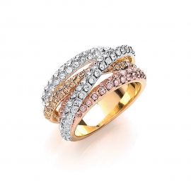 Russian Sparkle Strands Ring