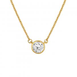 Central Brilliant Pendant - Gold