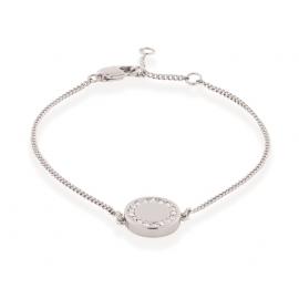 Shoreditch Button Bracelet - Silver