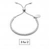Unity Friendship Bracelet - Silver
