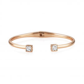 Central Princess Bangle - Rose Gold Model CZBA154