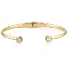 Central Brilliant Bangle - Gold Model CZBA155