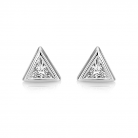 Central Trillion Stud Earrings Model CZE1027