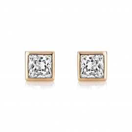 Central Princess Stud Earrings - Rose Gold Model CZE1028