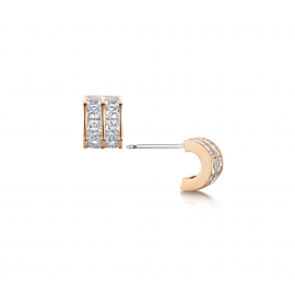 Ice Cube Hoop Earrings - Rose Gold Model E2110