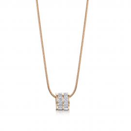 Ice Cube Charm Pendant - Rose Gold Model GN1068