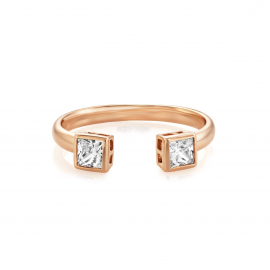 Buckley London Central Princess Open Ring - Rose Gold Model CZR502 L