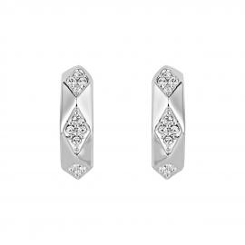 Notting Hill Hoop Earrings - Silver Model E2221