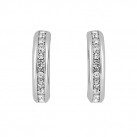 Shoreditch Hoop Earrings - Silver Model E2202